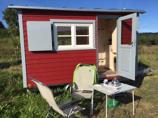 Zirkuswagen als Gartenhaus, Wohnwagen
