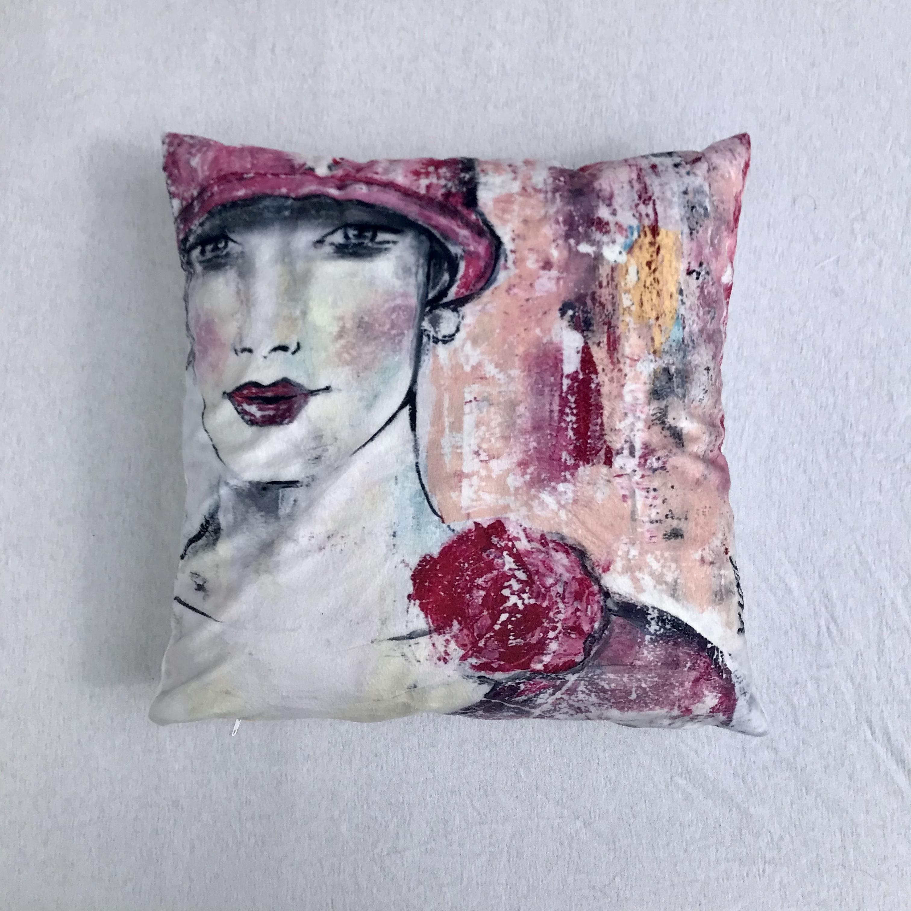 04  Dame mit Hut Rosé M