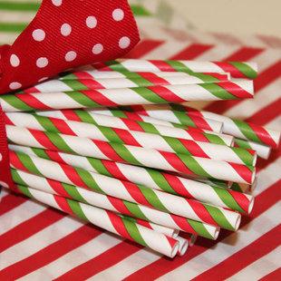 Pajitas Papel Navidad