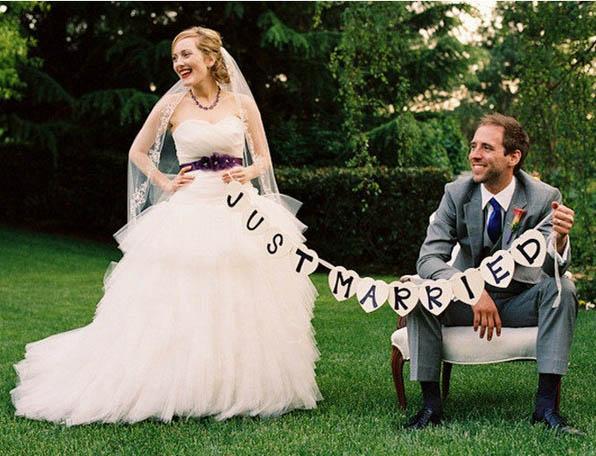 Banderín Recién Casados
