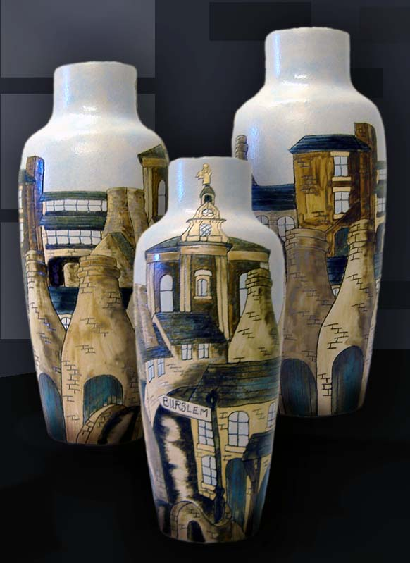 Burslem Bottle vase