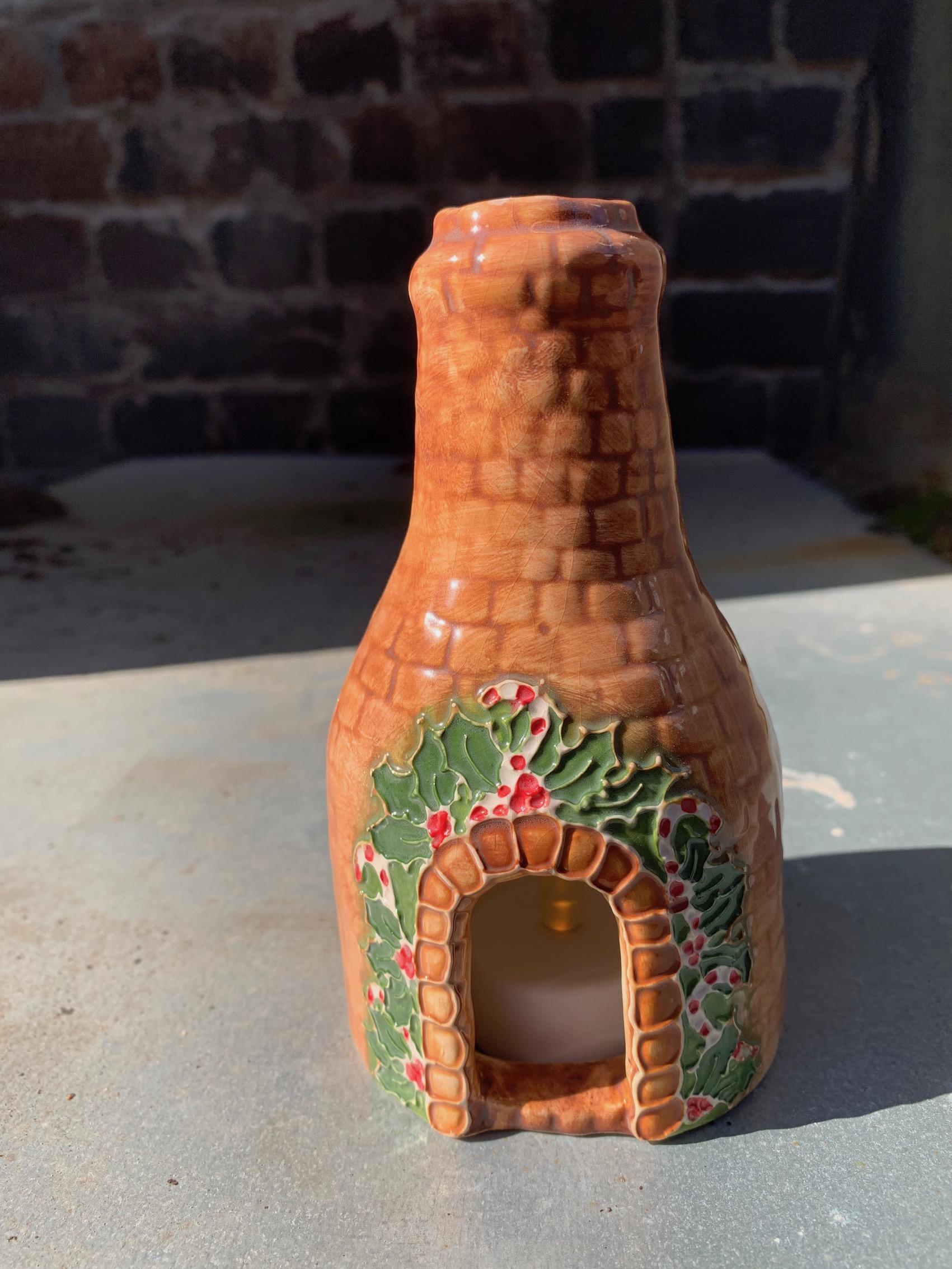 Medium Bottle Christmas T Light Kiln