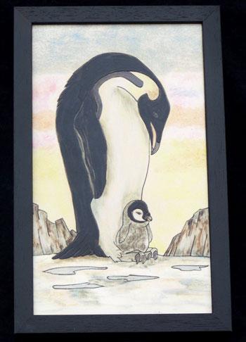 Penguins at Sunset