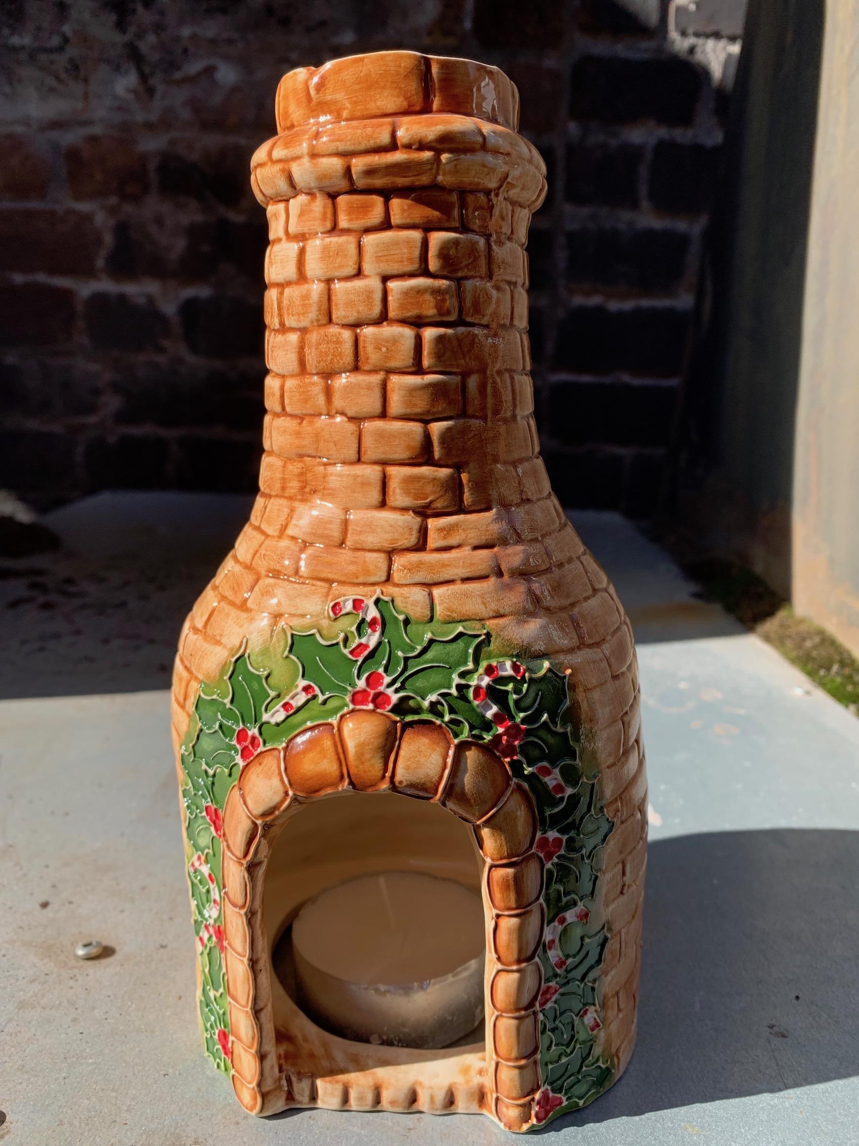 Large  Christmas T Light Bottle Kiln