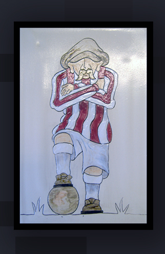 Old Time Football Tile