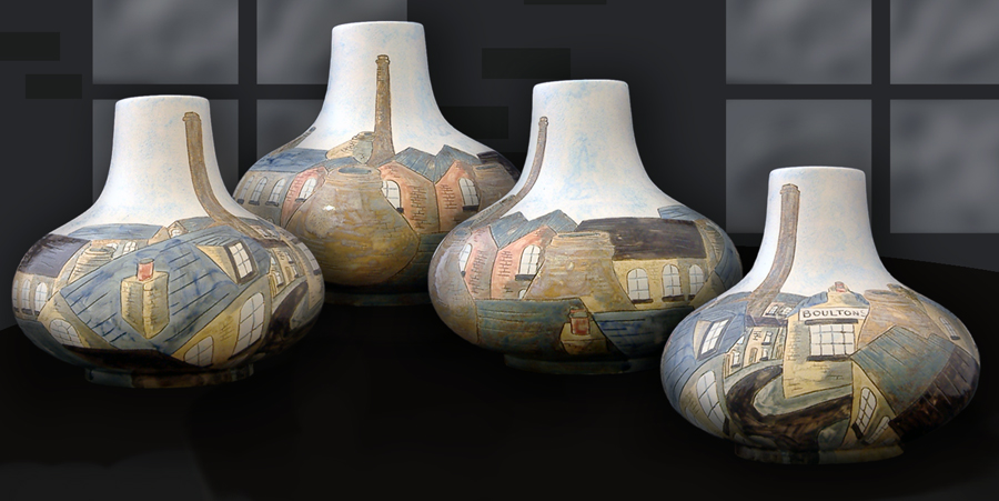 Longton Rooftops Onion vase