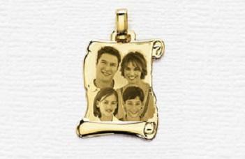 Placa Pergamino Oro Con Fotograbado