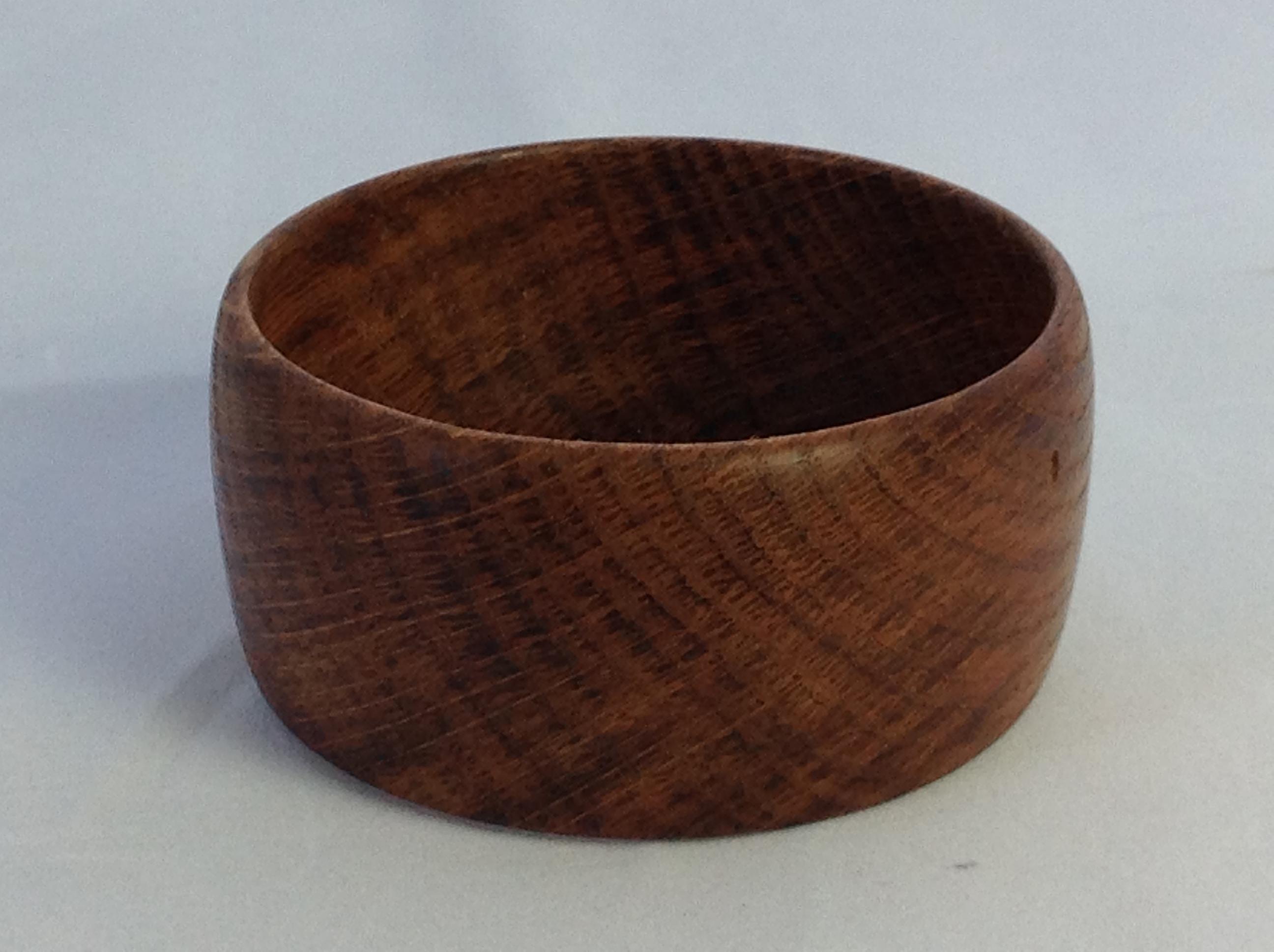 Brown oak cuff bangle