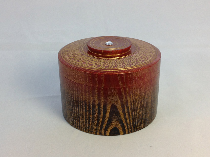 Black red and gold lidded box