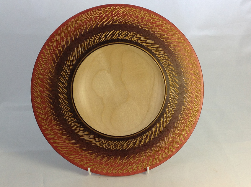 Black/red and gold sycamore bowl