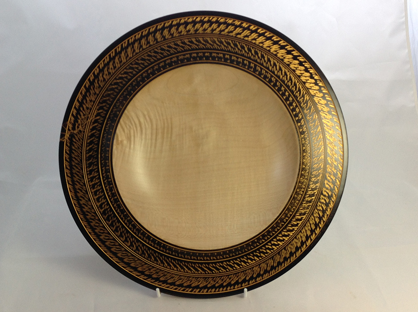 Black and gold sycamore platter
