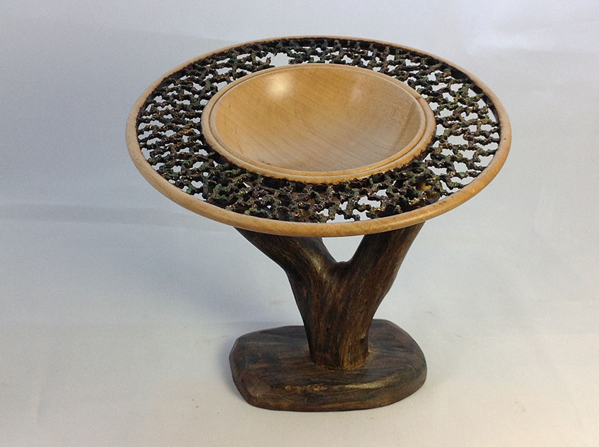 Mounted Coral bowl