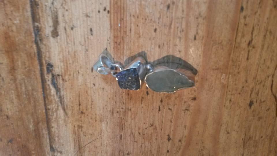 Tanzanite & aquamarine pendant