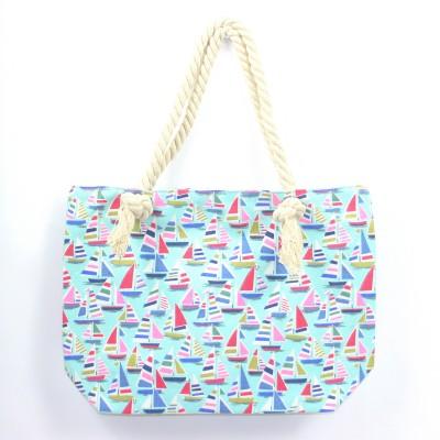 Bright boat beach bag