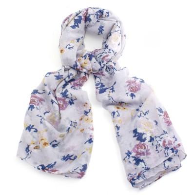 Pink flower scarf
