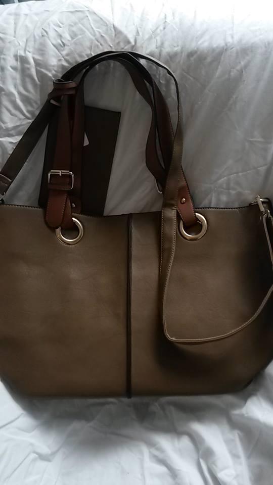 Large khaki bag