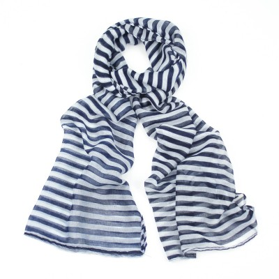 Blue & yellow striped scarf