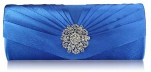 Bright blue clutch bag