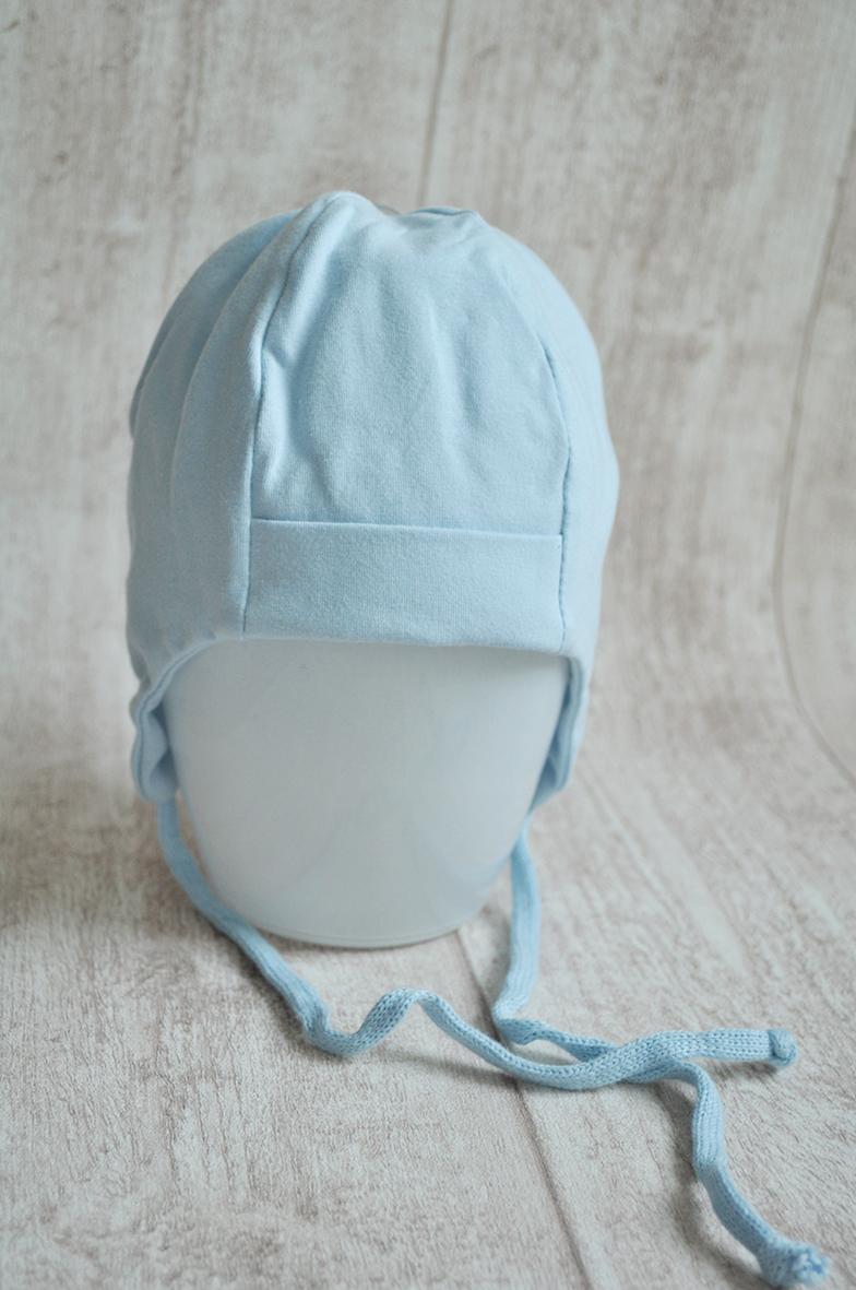 Mütze Blau mit Name Gr. 35