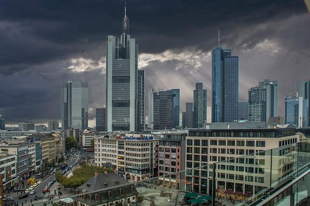 Die Skyline von Frankfurt