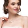 Zartes Collier für ein Lohrengel Brautkleid.