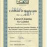 Professional carpet cleaners certificate