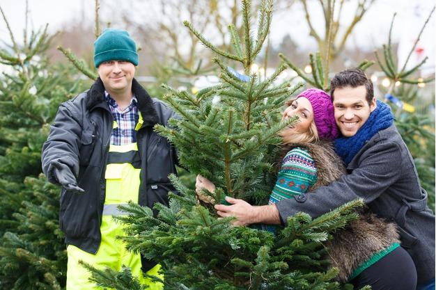 Wir Lieben unsere Weihnachtsbaum Kunden