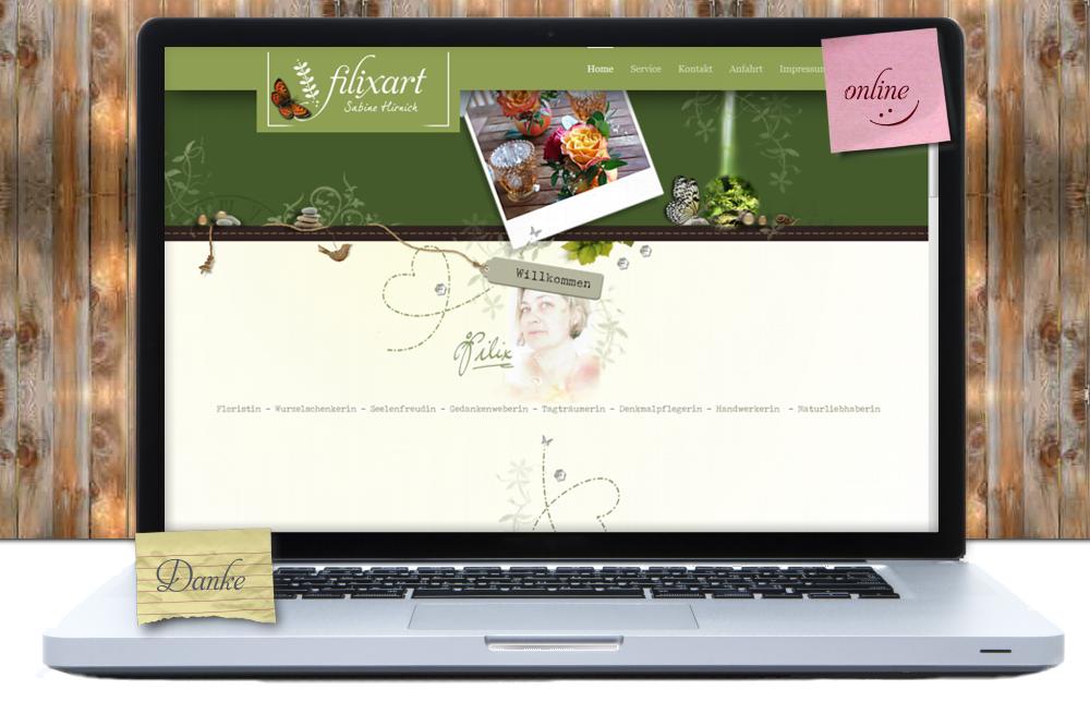 Screenshot: Filixart ~Florale Werkstatt, Koblenz