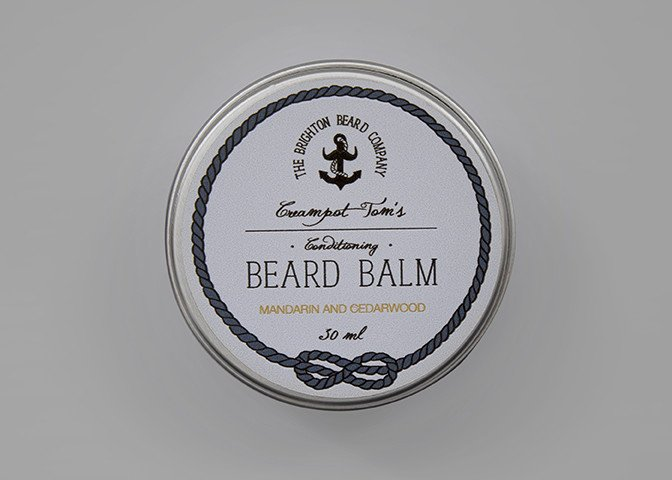 THE BRIGHTON BEARD COMPANY CREAMPOT TOM'S MANDARIN & CEDARWOOD BEARD BALM 30ml