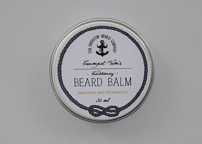 THE BRIGHTON BEARD COMPANY CREAMPOT TOM'S MANDARIN & CEDARWOOD BEARD BALM 60ml