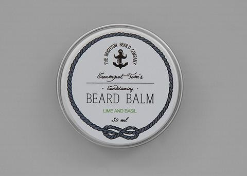 THE BRIGHTON BEARD COMPANY CREAMPOT TOM'S LIME & BASIL BEARD BALM 30ml