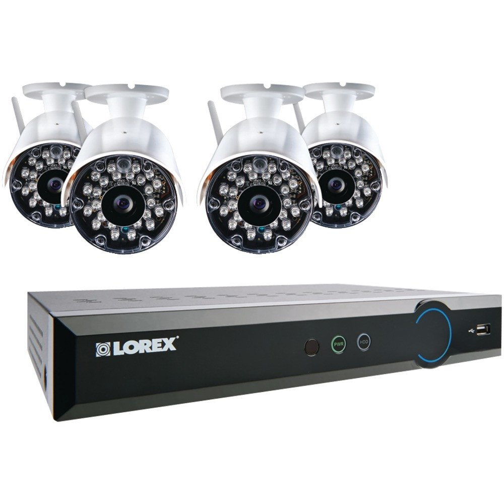 LOREX LH03081TC4W ECO Black Box 960H 8-Channel Stratus DVR with 4 Wireless Cameras With Full Installation