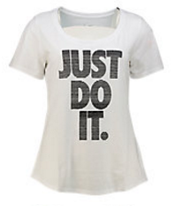 Nike Just Do It Scoop Neck T-shirt - Mujer