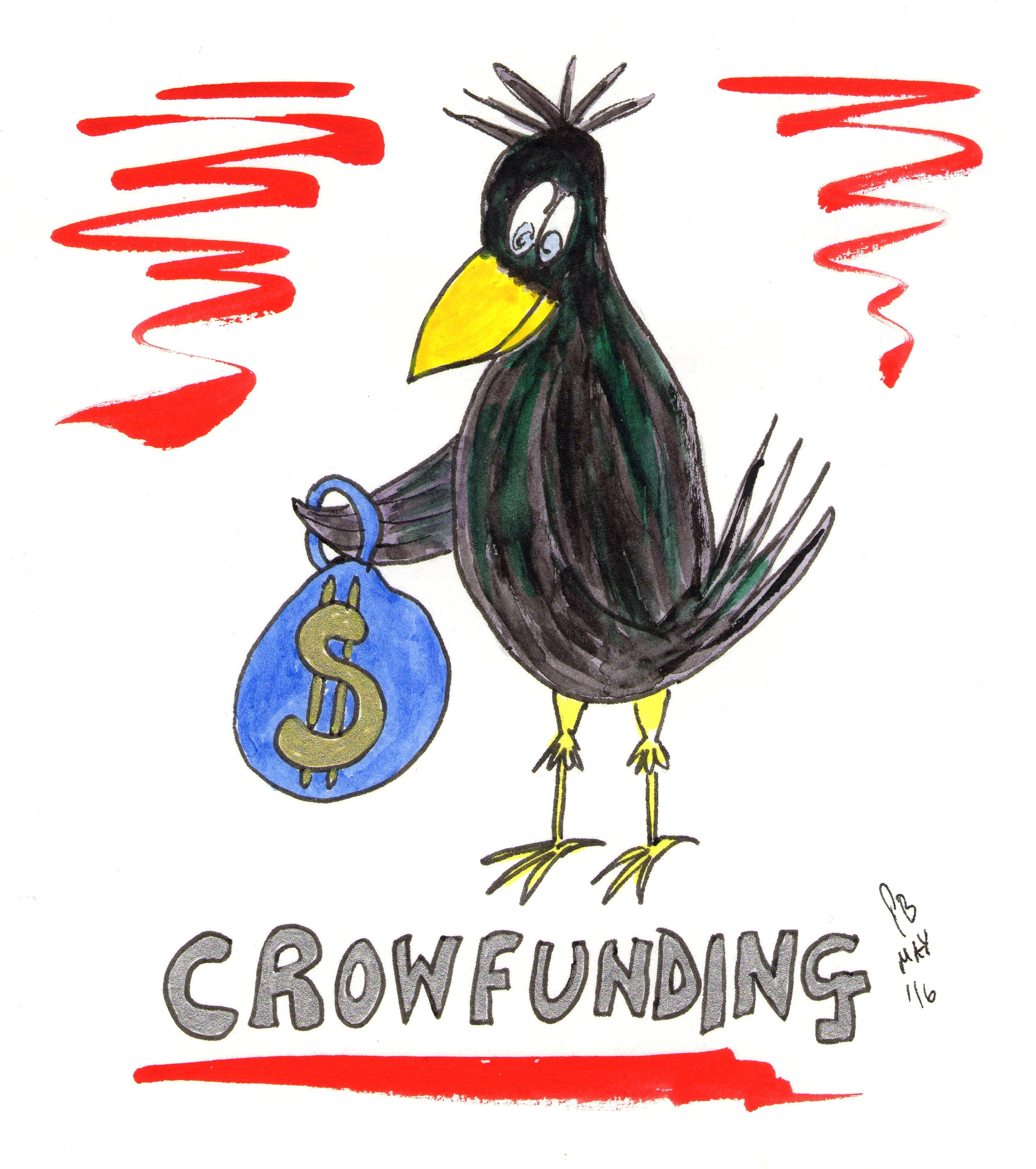 Is Crowd Funding or Crow Funding in Dollars or Pounds