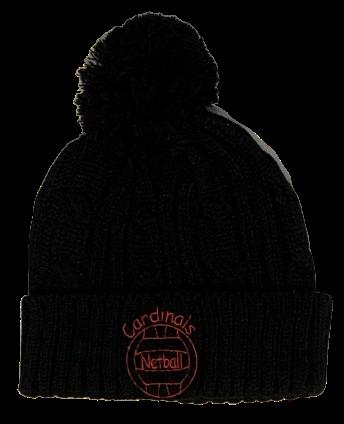 Cardinals Black Woolly Hat