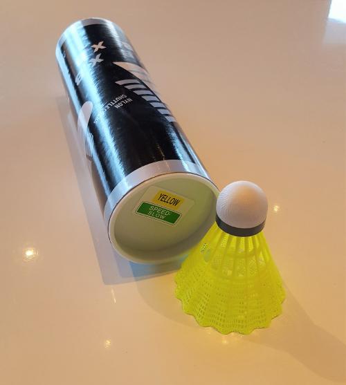 Badminton Ball Speed: slow