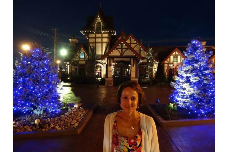 Le Christmas Square de nuit