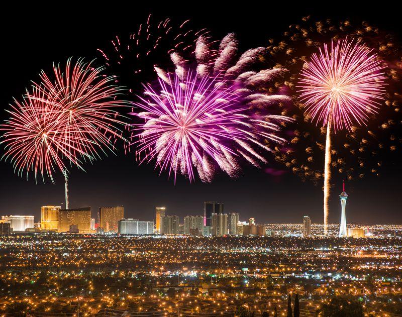 Feux d'artifice à Las Vegas