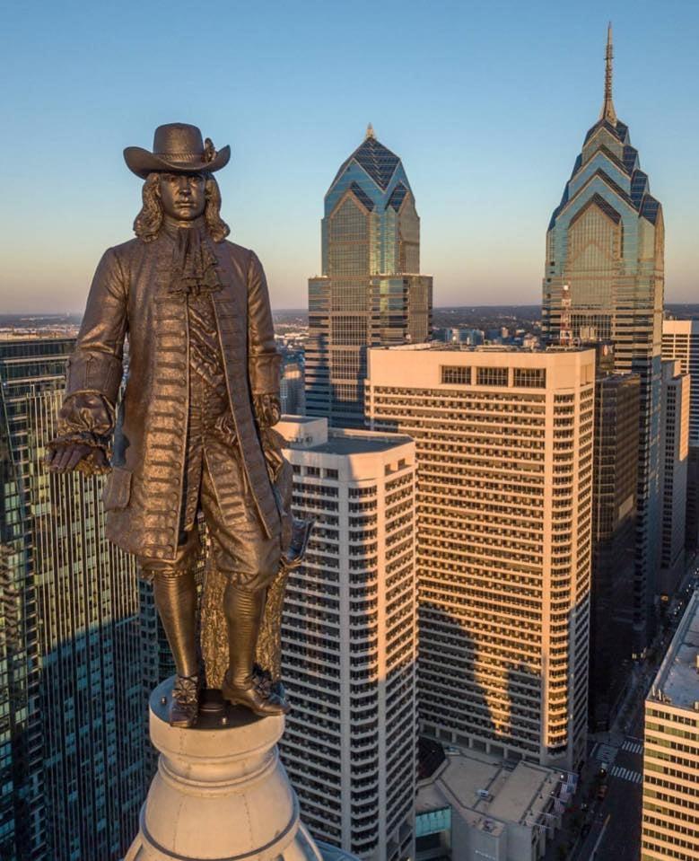 Statue William Penn à Philadelphie