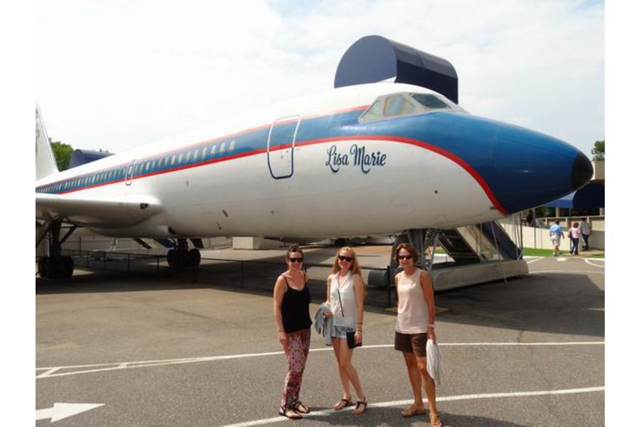 Avion d'Elvis voyage aux usa en famille