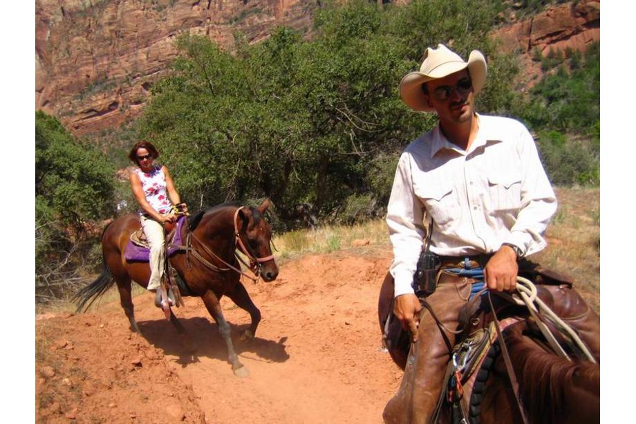 Zion national park utah balade à cheval