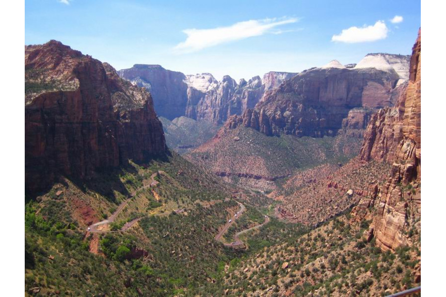 Zion national park utah canyon overlook point
