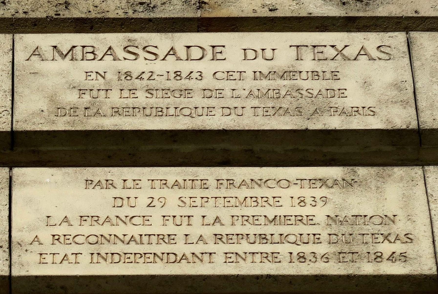 Texas ambassade en France