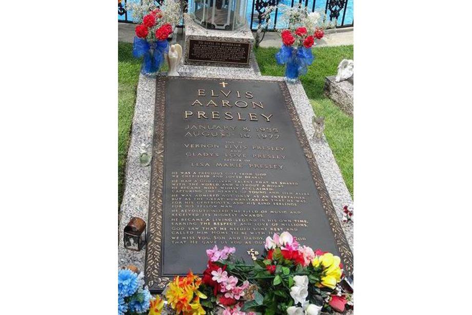 La tombe d'Elvis à Graceland