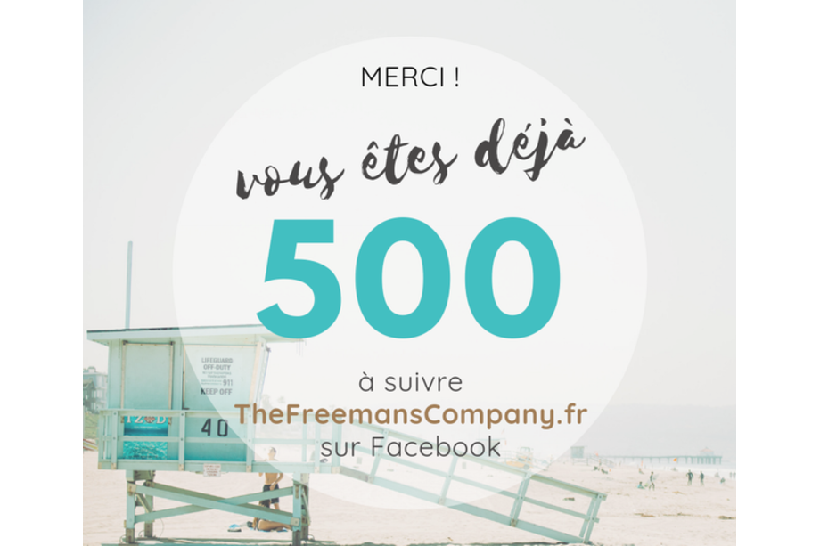 thefreemanscompany 500 likes sur Facebook