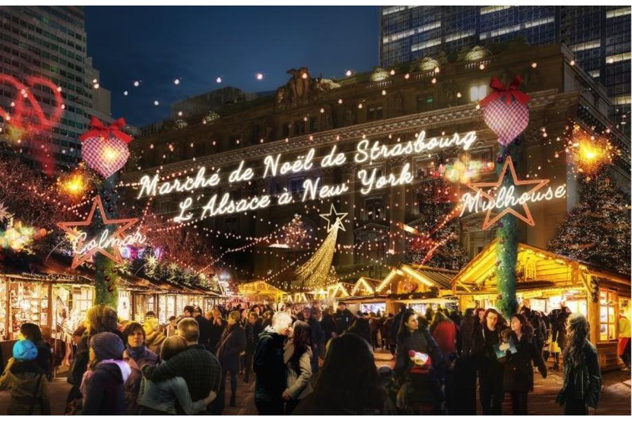 marché de noël de strasbourg à new york