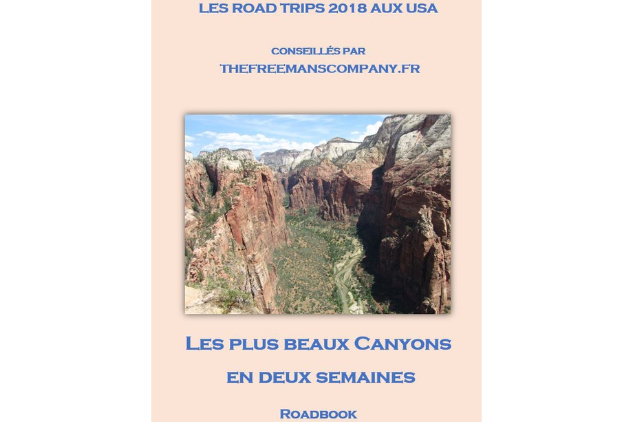 le roadbook du roadtrip les plus beaux canyons