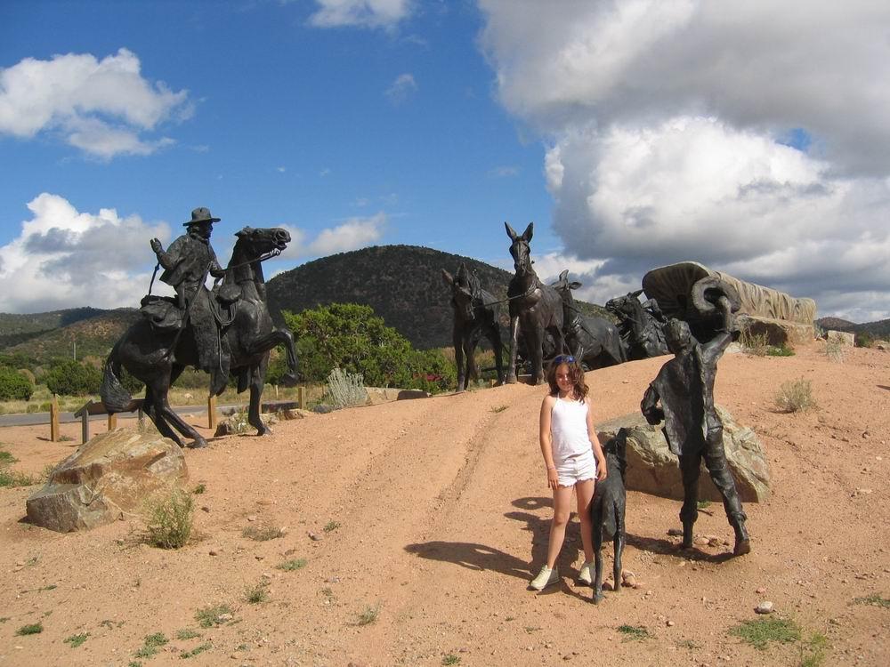 La piste de Santa Fe au Nouveau Mexique