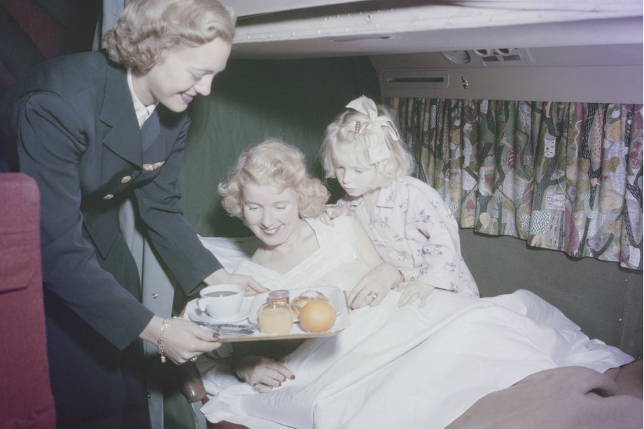 service à bord années 50