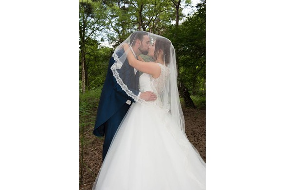 Silk and lace veil